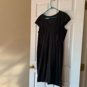 Evan Picnone Stitched Detail Dress